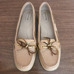 Sperry Top Siders Tan Leather Shoes